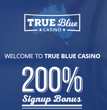 true blue casino welcome bonus